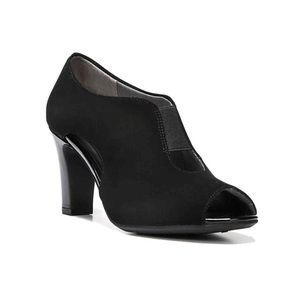 Life Stride Patent and Faux Suede Peep Toe Booties